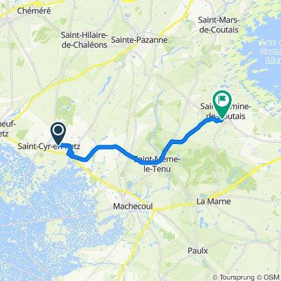 Itinéraire vers 1 Impasse des Merisiers, Saint-Lumine-de-Coutais