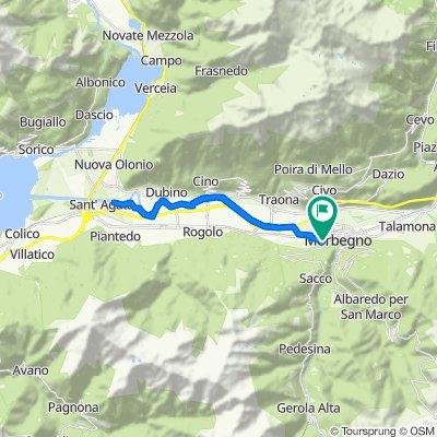 Da Via Nazionale 72, Cosio Valtellino a Via Nazionale 93/A, Cosio Valtellino