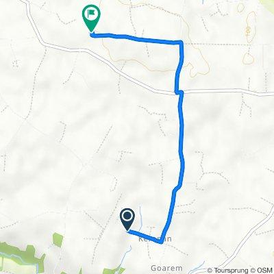 Itinéraire vers Kernevez, Lanhouarneau