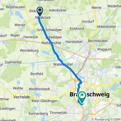 Schlottkamp 8, Wendeburg nach Helenenstraße 12, Braunschweig