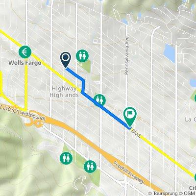 Fairesta Street 3650, Glendale to Foothill Boulevard 3141, La Crescenta-Montrose