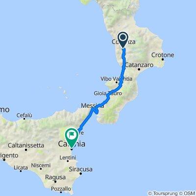 Da Via Profenna, Dipignano a Piazza Duomo 1–3, Catania