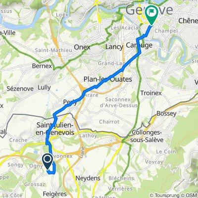 De 139 Allée des Sorbiers, Feigères à Rue Gabrielle-Perret-Gentil, Genève