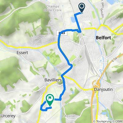 De 37 Rue de Lille, Belfort à 5 Impasse des Buchets, Bavilliers