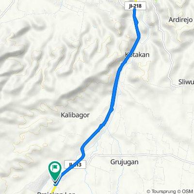 Jalan Raya Situbondo, Prajekan to Gang Kenanga, Prajekan
