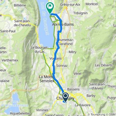 Itinéraire à partir de 1497 Boulevard de Bellevue, Chambéry