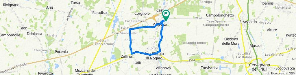 Via Bando 16, Porpetto nach Via Bando 14, Porpetto