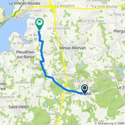 De 114 Le Bourg, Tressé à D48, Pleudihen-sur-Rance