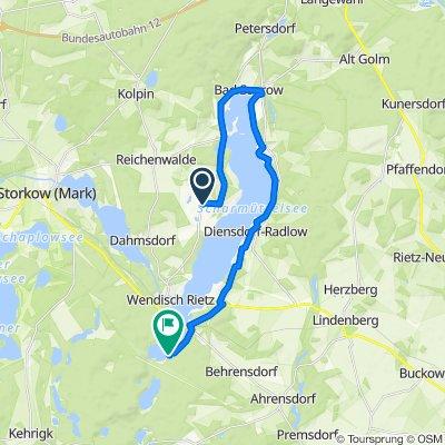 Silberberg 29, Bad Saarow nach Am Glubigsee 46, Wendisch Rietz