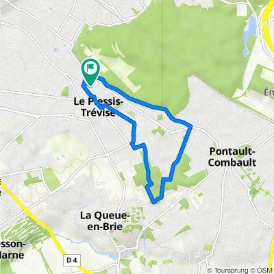 De Avenue Georges Foureau 12, Le Plessis-Trévise à Avenue Georges Foureau 14, Le Plessis-Trévise