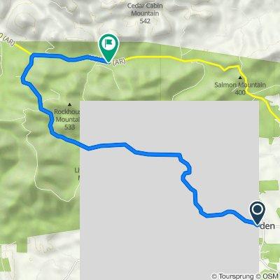 2021 Ouachita Challenge Gravel Route
