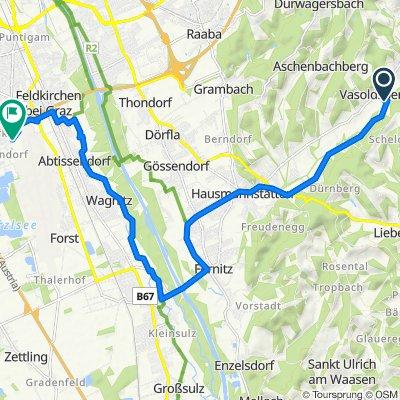 Vasoldsberg 41 nach Flughafenumfahrungsstraße, Feldkirchen bei Graz