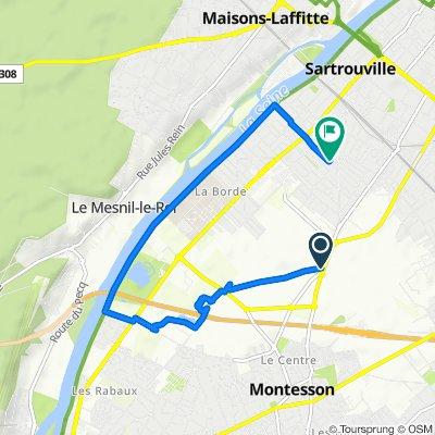 De Chemin Fourchu, Montesson à 33 Rue de Verdun, Sartrouville