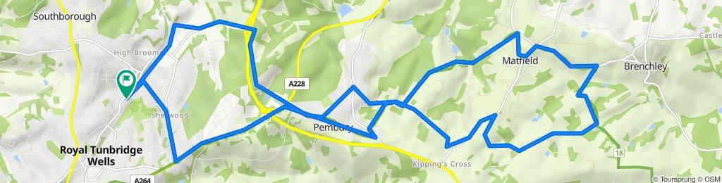 226 Upper Grosvenor Road, Tunbridge Wells to 222 Upper Grosvenor Road, Tunbridge Wells