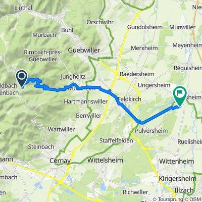 De D431, Goldbach-Altenbach à 2 Rue du Mais, Ensisheim