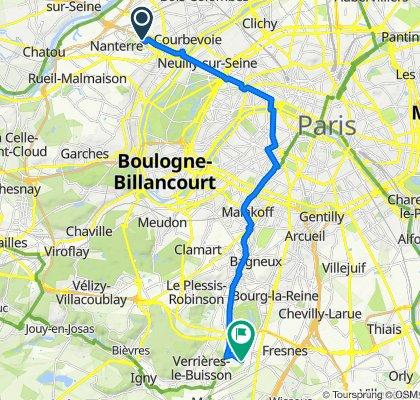 De 107 Rue des Trois Fontanot, Nanterre à Rue des Sources, Antony