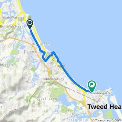 34 Townson Avenue, Palm Beach to 1 Lord Street, Coolangatta
