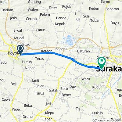 Tegalmulyo, Mojosongo to Jalan Dokter Rajiman 477, Kecamatan Laweyan