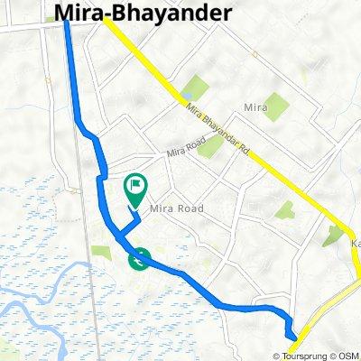 B-49, Shree Nakoda Bhairav Marg, Sector 3, Mira Bhayandar to C-28, Shrimad Buddhisagar Suriswarji Maharaj Marg, Sector 3, Mira Bhayandar