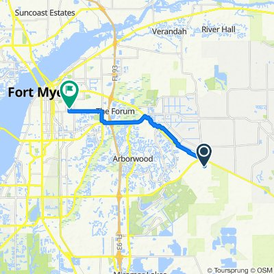 11751 Shawnee Rd, Fort Myers to 2947–2999 Work Dr, Fort Myers