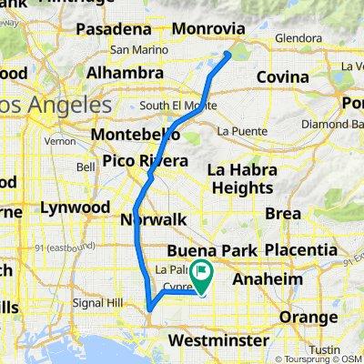 3362 W Thornton Ave, Anaheim to 1348 S Knott Ave, Anaheim