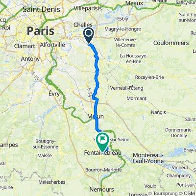 De 19 Place du Lapin Vert, Emerainville à 5–9 Rue Paul Séramy, Fontainebleau