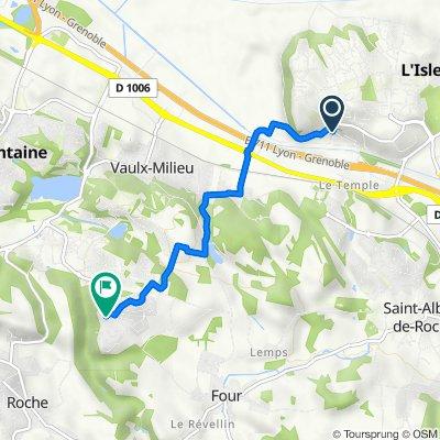 De 2C Rue de Saint-Germain, L'Isle-d'Abeau à 17 Allée Paul-Émile Victor, Villefontaine