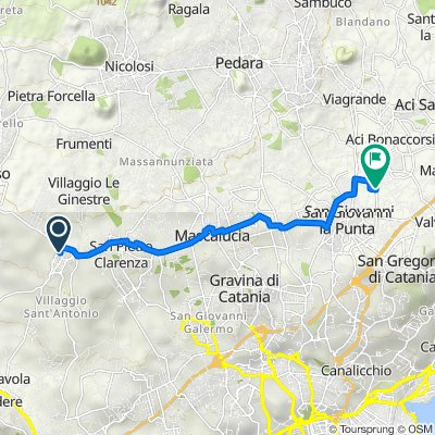 Da Via Belpasso 35, Camporotondo Etneo a Via Montello, San Giovanni La Punta