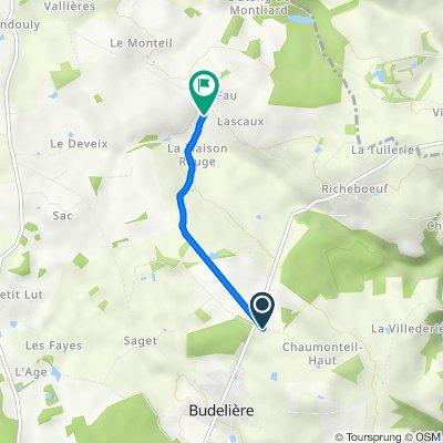 Itinéraire à partir de La Vernude, Budelière