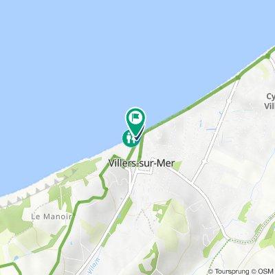 De Rue du Maréchal Foch 1, Villers-sur-Mer à Place Jean Mermoz 5, Villers-sur-Mer