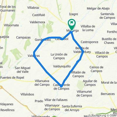 De Calle del Rollo, 23, Mayorga a Calle de Villalogan, 1, Mayorga