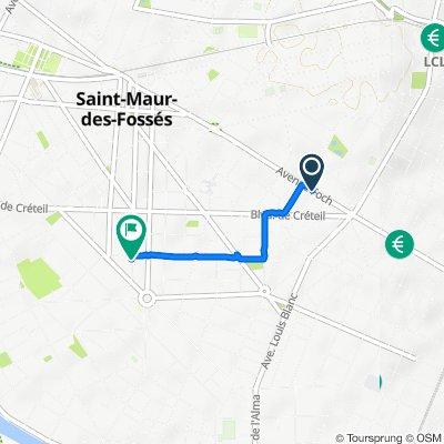De 122bis Avenue Foch, Saint-Maur-des-Fossés à 30 Rue Baratte Cholet, Saint-Maur-des-Fossés