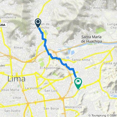De Los Ebanos 425, Lima a Avenida Los Frutales 1111, Lima