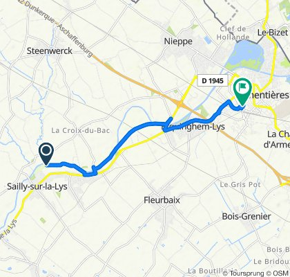 De 1 Rue de la Cense à Lapins, Sailly-sur-la-Lys à 36 Rue Nicolas Leblanc, Armentières