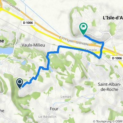 De 40 Allée Paul-Émile Victor, Villefontaine à 2C Rue de Saint-Germain, L'Isle-d'Abeau