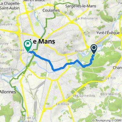 Itinéraire vers 12 Rue Constant Drouault, Le Mans