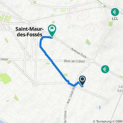 De 64 Avenue Jeanne d'Arc, Saint-Maur-des-Fossés à 46 Avenue Foch, Saint-Maur-des-Fossés