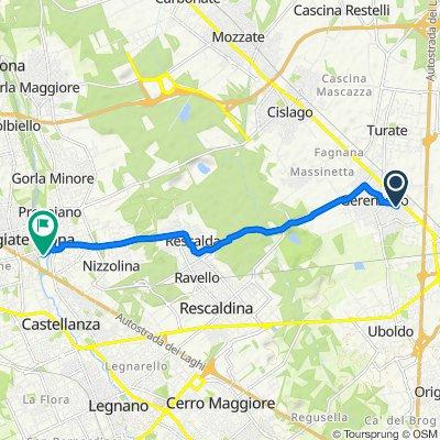 Da Via Giovanni Boccaccio 15, Gerenzano a Via per Marnate 4–4/a, Olgiate Olona
