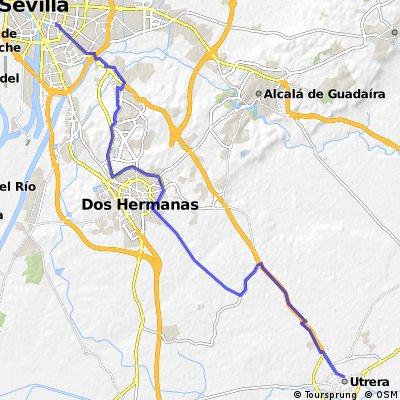 Utrera - Dos Hermanas - Montequinto - Sevilla.