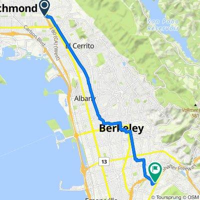San Francisco Bay Trail, Richmond to 5516 Manila Ave, Oakland