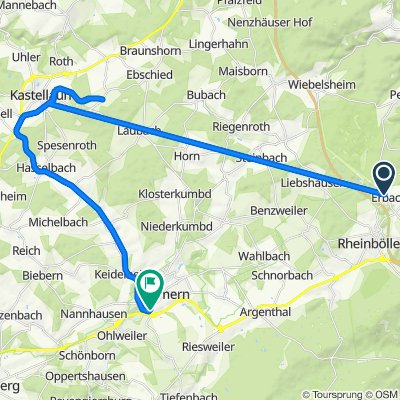Gartenstraße 11, Erbach nach Gemündener Straße 2, Simmern (Hunsrück)