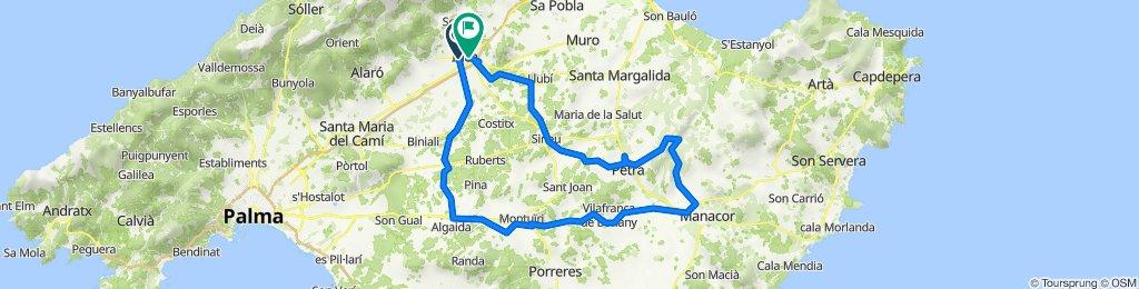 ALGAIDA-MONTUIRI-VIAL-MANACOR-SA VALL-PETRA-INCA