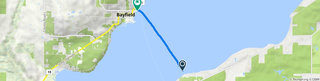 Route to 20 Washington Ave, Bayfield