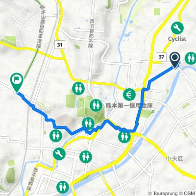 8-53, Higashikokaimachi, Chuo-Ku, Kumamoto to 9-27, Shimasaki 1-Chōme, Chuo-Ku, Kumamoto