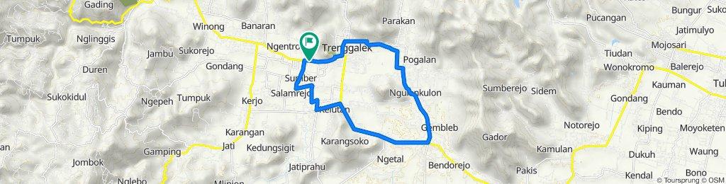 Jalan Raya Trenggalek - Ponorogo, Karangan to Jalan Raya Trenggalek - Ponorogo, Karangan