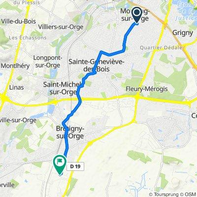 De 1 Allée des Pruniers, Morsang-sur-Orge à Rue des Manufactures, Brétigny-sur-Orge