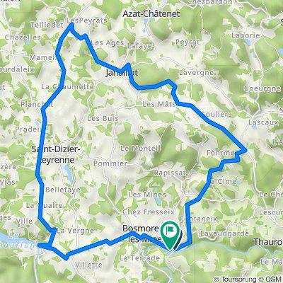 De D940a, Thauron à D60, Bosmoreau-les-Mines