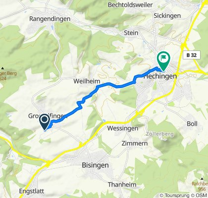 Schützenstraße 4/1, Grosselfingen nach Gutleuthausstraße 2–6, Hechingen