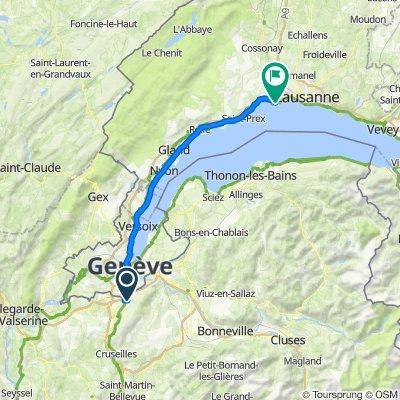 От 729 Route de Vovray, Аршан до Chemin du Laviau 3, St-Sulpice VD