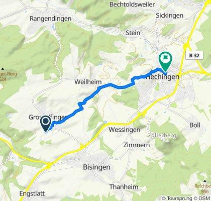 Schützenstraße 2/2, Grosselfingen nach Untere Mühlstraße 2, Hechingen